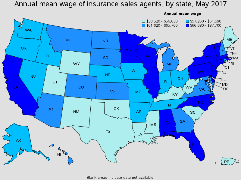 Breakdown Of Insurance Agent Pay Ranges By State - EverQuote