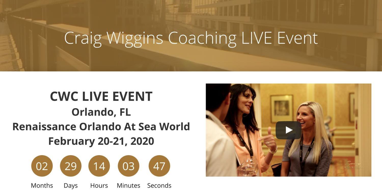 Craig Wiggins Coaching website