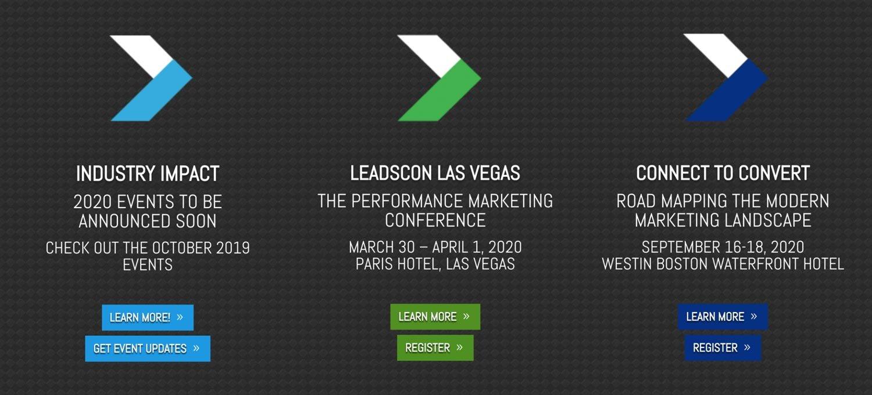 LeadsCon website